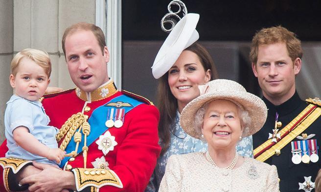 Algunos miembros de la familia real