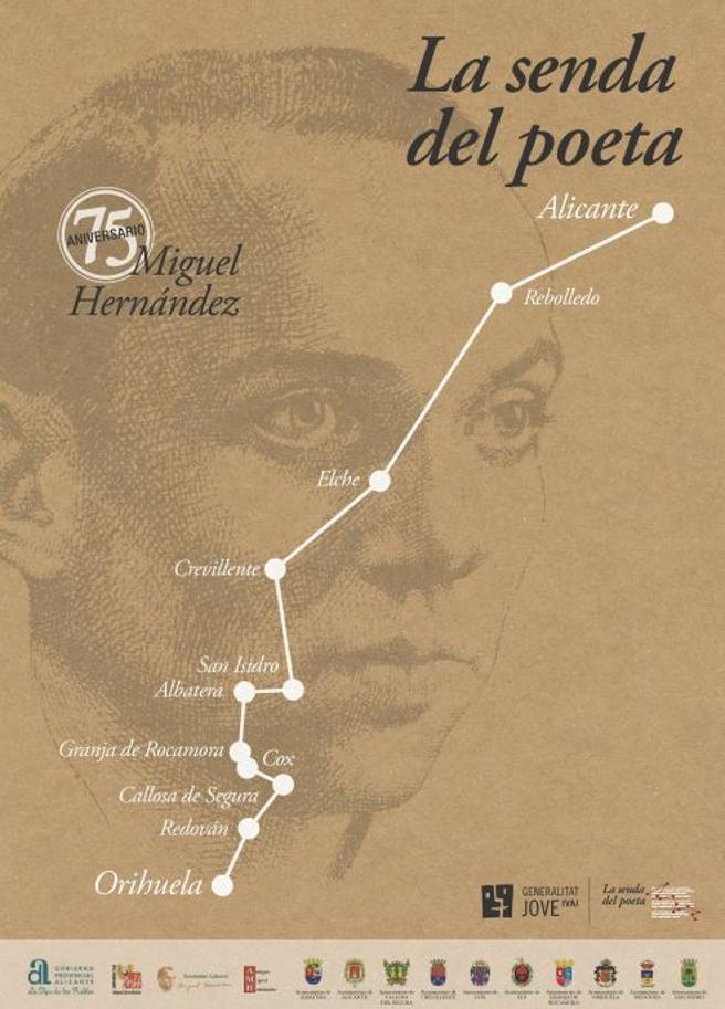 Cartel de la Senda del Poeta