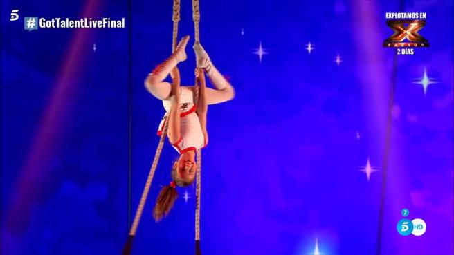 'Got Talent España': Petruska demuestra con su trapecio que no dejará nunca de soñar