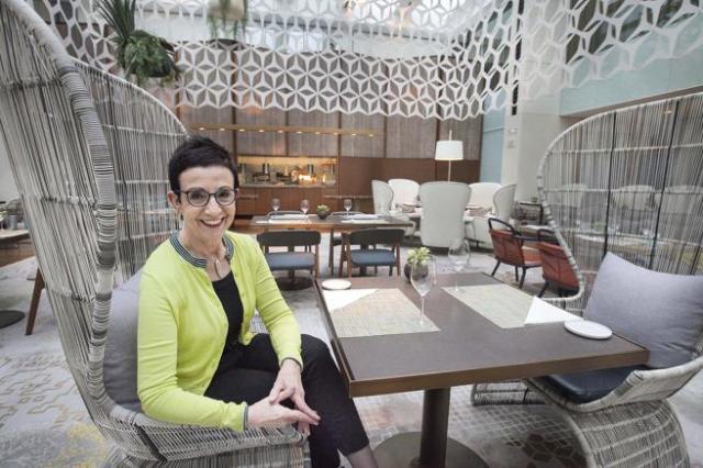 CARME RUSCALLEDA EN EL RESTAURANTE DEL HOTEL MANDARIN IMPERIAL 27-04-17 INMA SAINZ DE BARANDA