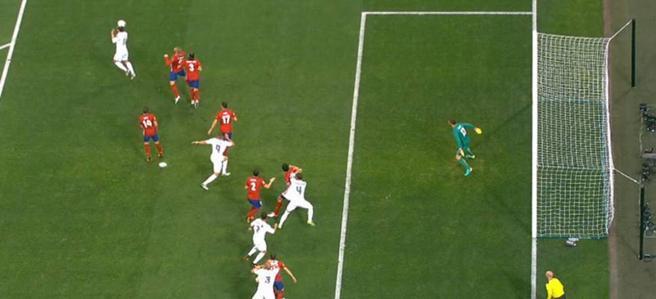 Sergio Ramos estaba avanzado antes de marcar el gol en la final contra el Atlético