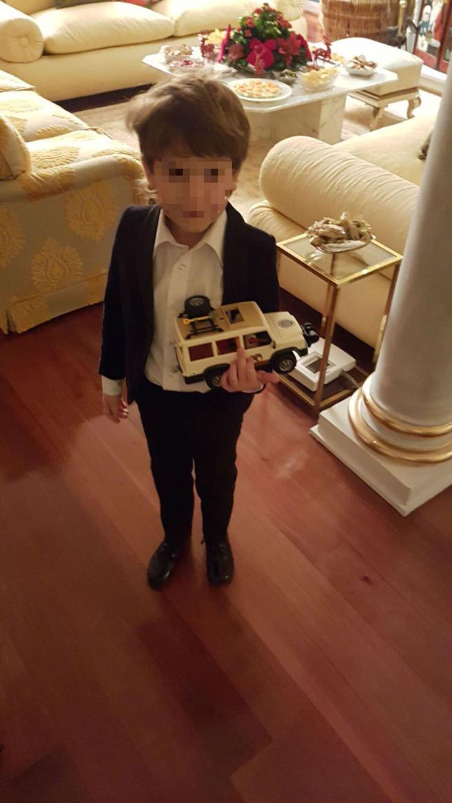 Kenzo, nieto del marqués de Larios, tiene seis años.