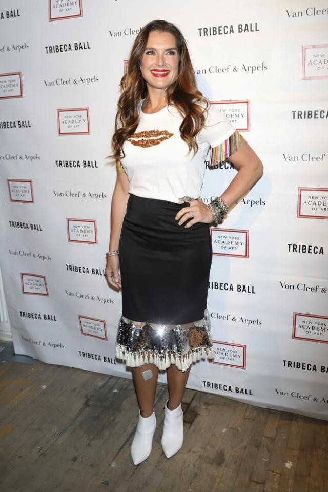 Brooke Shields en un acto celebrado en Nueva York