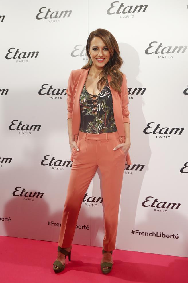 La actriz Paula Echevarría durante un acto como imagen de la firma Etam en Madrid