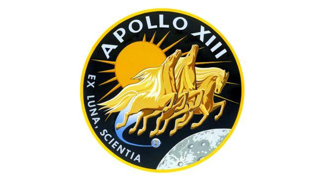 Logo de la misión Apollo 13, que debía convertirse en la tercera en pisar la Luna