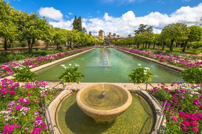 Jardines del Alcazar de los Reyes en Sevilla