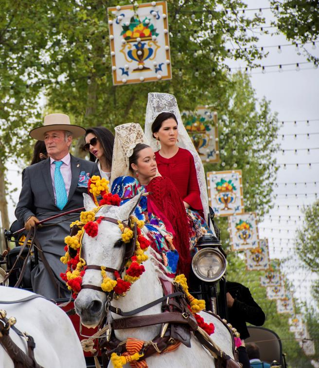 Un carruaje pasea por el centro de el Real.