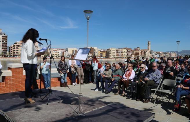 Imagen del acto de homenaje a las víctimas de la guerra civil en Tortosa, este pasado domingo