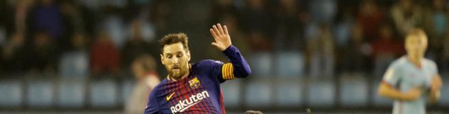 Leo Messi, suplente ante el Celta