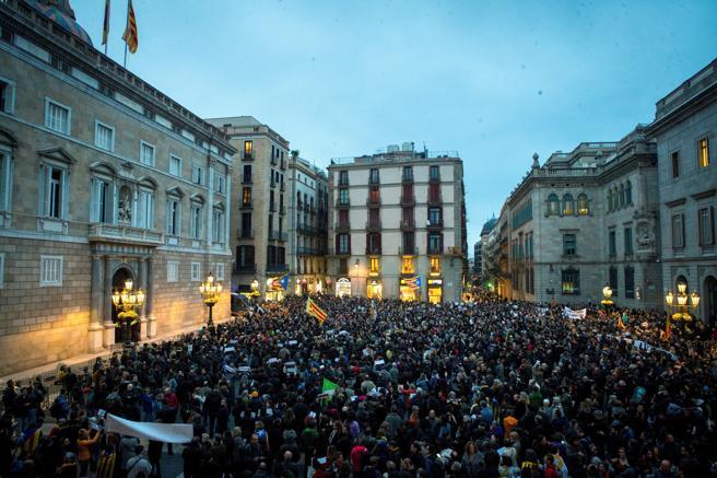 Manifestacion convocada en protesta por la encarcelación de una supuesta cordinadora d e los CDR