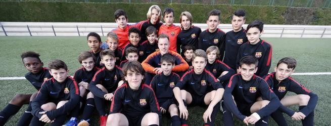 Marc André Ter Stegen ha visitado al Infantil B del Barcelona