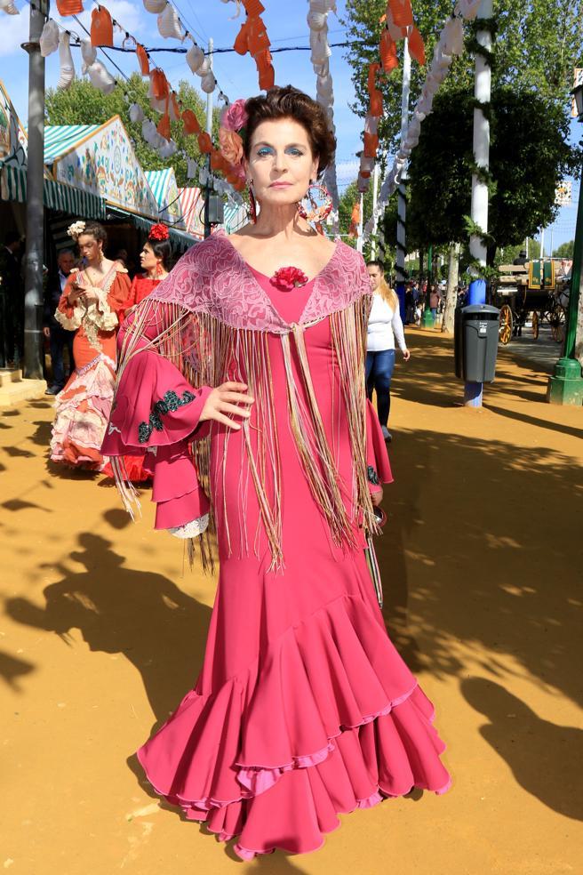 Antonia Dellatte durante la Feria de Abril de Sevilla.