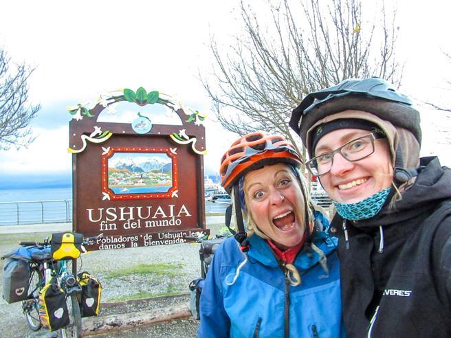 Cristina Spinola en Ushuaia