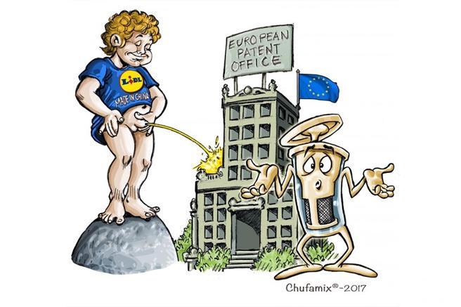 Viñeta sobre el presunto plagio de Lidl del invento valenciano 'Chufamix'