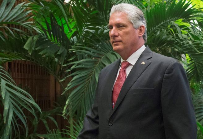 Miguel Díaz-Canel Bermudez, en el Palacio de la Revolución, en La Habana, Cuba