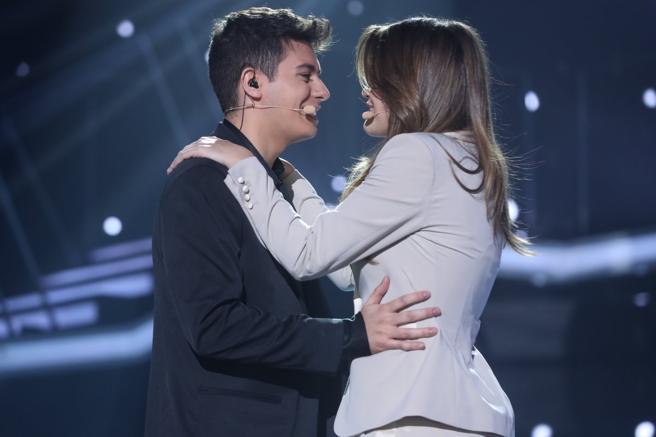 Alfred y Amaia en la gala Eurovisión de 'OT 2017'