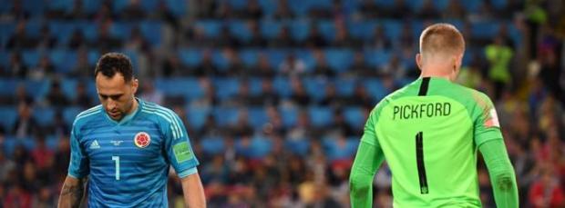 Ospina (Colombia) y Pickford (Inglaterra), protagonistas en los penaltis
