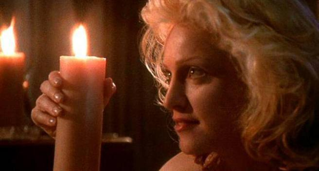 Madonna en un fotograma de 'El cuerpo del delito'