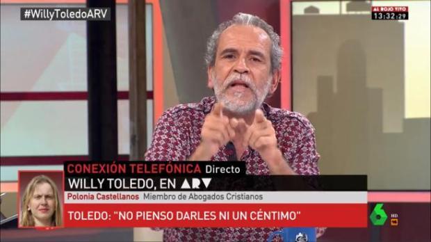 Willy Toledo acudió a La Sexta para detallar porque plantaba a la justicia