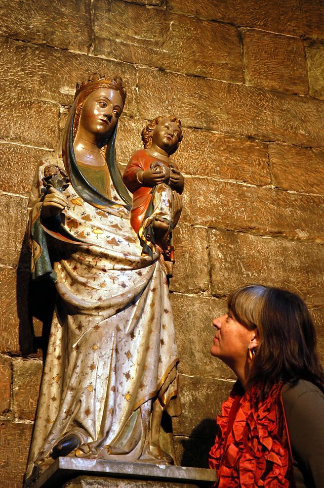 Die Virgen de Zaidín aus dem 14. Jahrhundert befindet sich in der Kirche Sant Llorenç neben dem Lleida-Museum