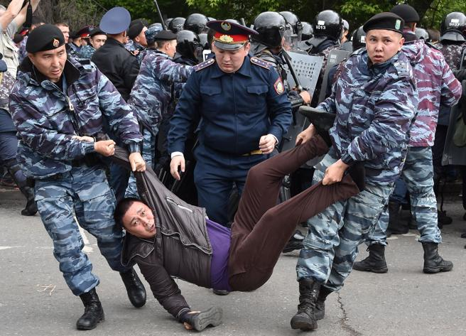 Many protesters have been arrested in Nur-Sultan