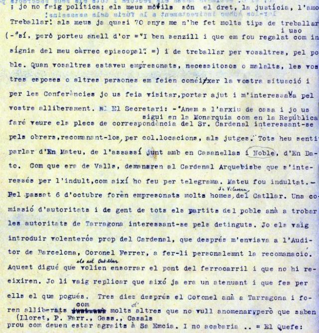 Fragmento de las memorias de Joan Viladrich.