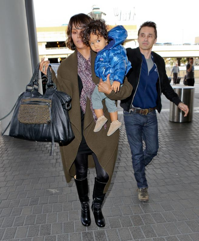 Olivier Martinez and Halle Berry with her son Maceo Martinez, in 2014