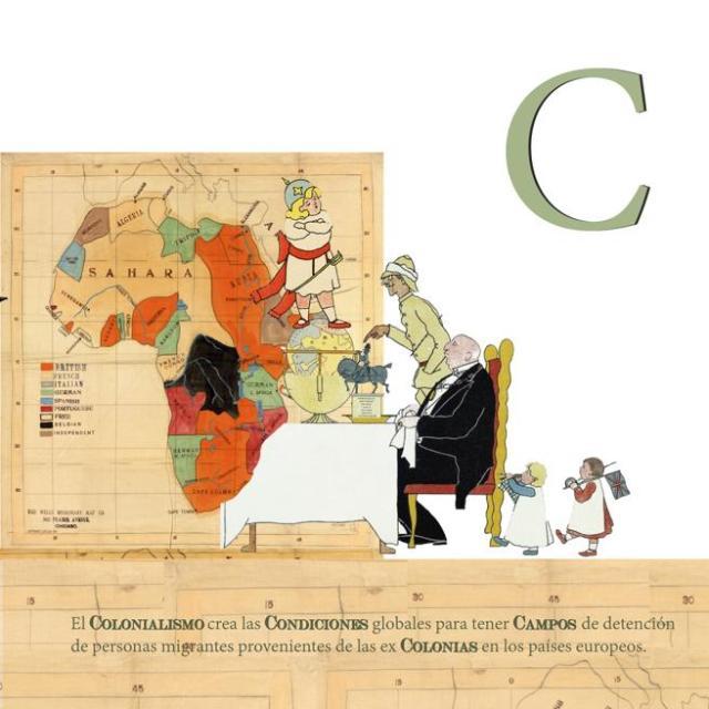 La letra C de la obra El ABC de la Europa racista  (2018)