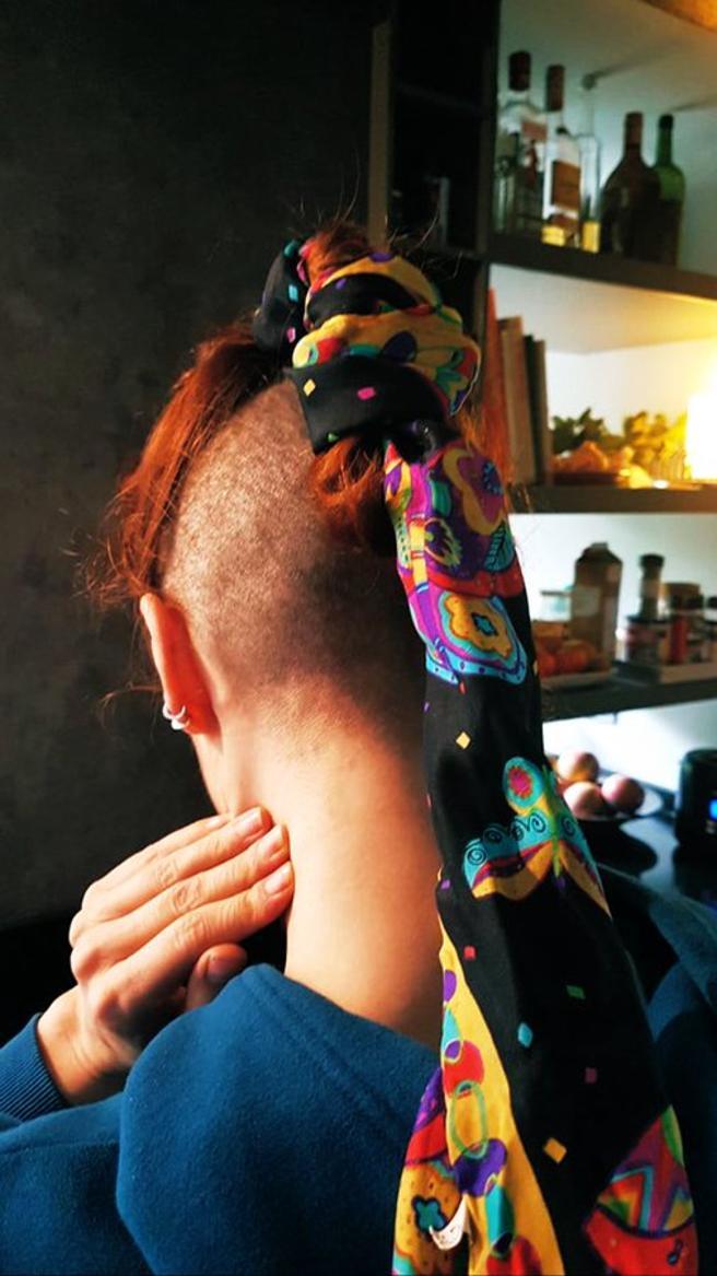 Najwa Nimri and his bizarre hairstyle