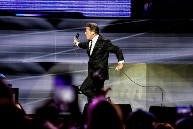 Eel mexican singer Luis Miguel in concert at the Palau Sant Jordi in Barcelona, with his tour 'Mexico forever'