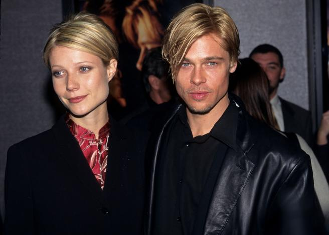 Gwyneth Paltrow and Brad Pitt when they were a couple in the year 1997