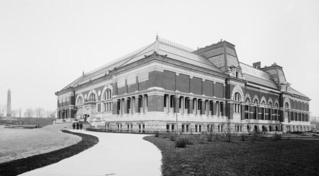 Exterior view of the museum in an image taken around 1895