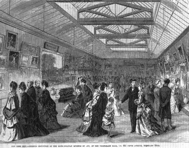 Inauguration, February 20, 1872, at the Dodworth Mansion, of the first house of the museum.  Image taken from the March 9, 1872 issue of