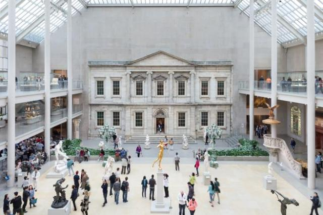 Present-day view of the Charles Engelhard Court in the American wing