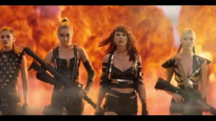 Premiere of the music video for Taylor Swift 'Bad Blood'