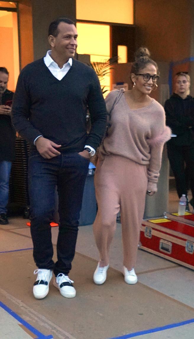 Jennifer Lopez and Alex Rodriguez in Malibu