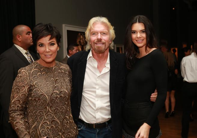 Make No mistake: the important person here is Branson, not Kris and Kendall Jenner