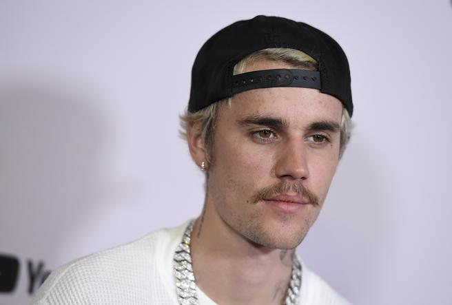 The singer Justin Bieber at a premiere in los Angeles.