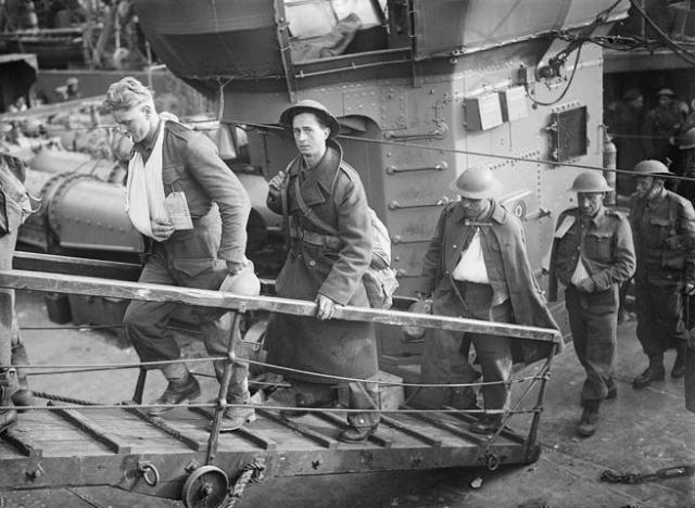 Tropas evacuadas de Dunkerque en mayo de 1940.