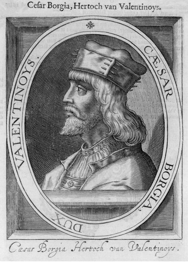 Grabado de César Borgia.
