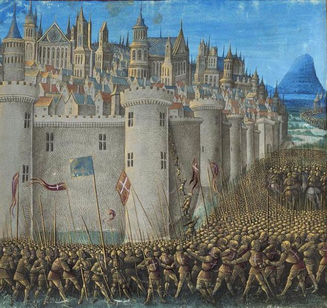 Representación del asedio de Antioquía durante la primera cruzada.