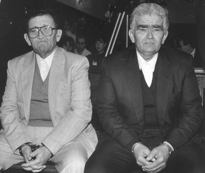 Los hermanos Izquierdo, en el momento en que el fiscal solicitaba la pena máxima por la matanza