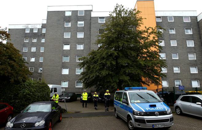 Bloque de pisos donde se ha producido el hallazgo de los cinco hermanos fallecidos en Solingen
