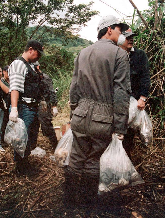 La Policía encuentra restos de las víctimas de Garavito