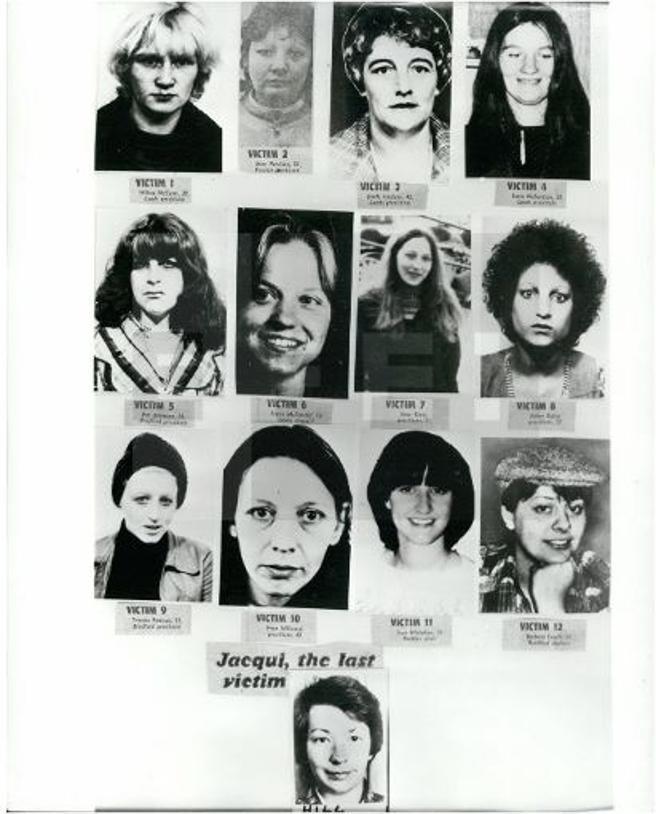 Las víctimas de Peter Sutcliffe, el 'Destripador de York'