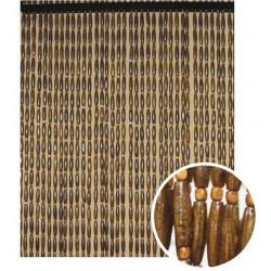 la vannerie d aujourd hui rideau de porte en olives de bois fonce