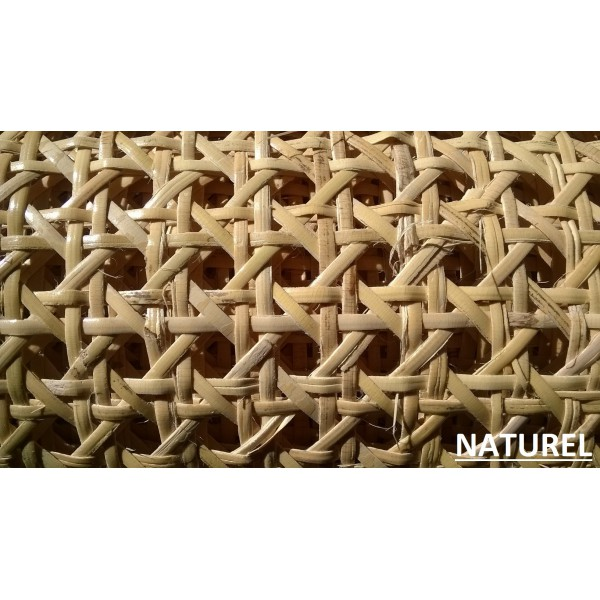 cannage a trous 1 2 maille naturel blanchi