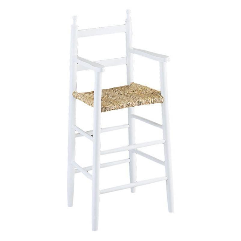 la vannerie d aujourd hui chaise haute pour enfant bois laque blanc
