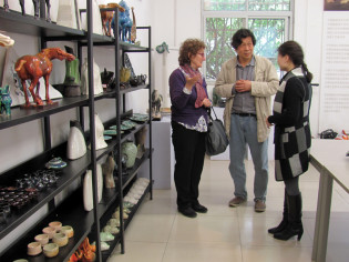 Meeting with the ceramist Guo Aihe in Luoyang