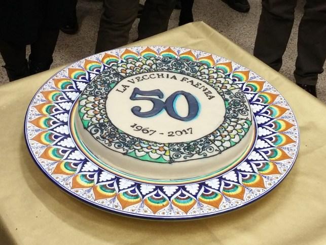 la torta dei 50 anni de La Vecchia Faenza